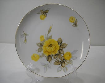 Sango Cotillion Yellow Rose Dinner Plate By Japan
