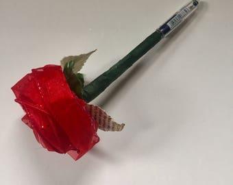 Enchanted Rose Pen- Red