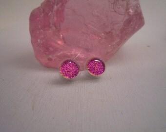 Sparkly Purple/Pinkish Small Studs