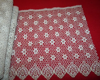 Vintage Wide Cotton Lace- Over 2 3/4 yards