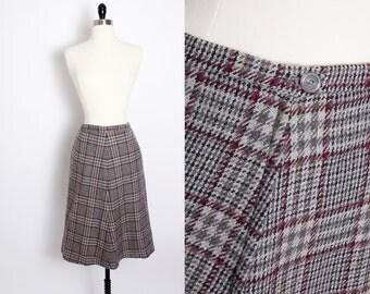 Vintage Cashmere PLAID pencil skirt, Bergdorf Goodman on the Plaza New York, Plaid skirt