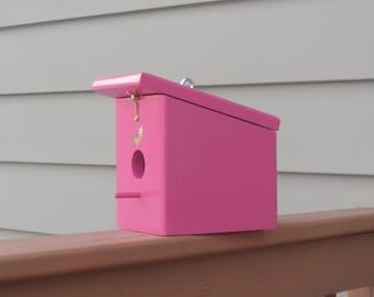 Berry Pink Hanging Bird house Handmade