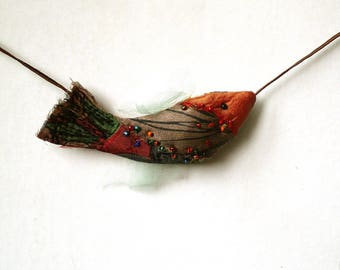 Orange Fish on a string for modern bohemian home