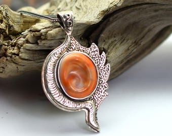 Sterling silver Shiva eye necklace, eye of the sea, Operculum Aegean sea shell pendant ,reversible, artisan silver jewelry, Naxos eye shell