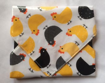 Chickens Snackaby reusable dishwasher-safe snack sandwich wrap