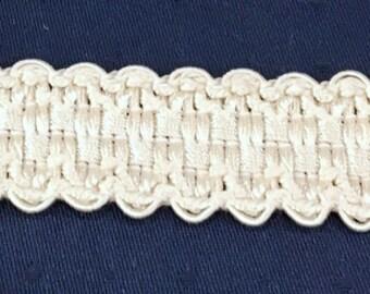 """Trim Gimp 1"""" Wide...Ivory...Crafts... Sewing Home Decor...Ribbon Gimp"""