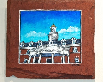 Green Mountain College Painting on Red Slate Fine Art Building