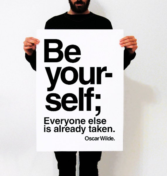 be yoursel poster 50 x 70 posteroffset postermodern print