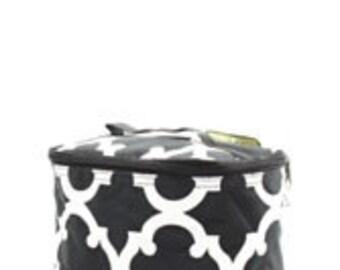 Black Cosmetic Bag Custom Embroidery