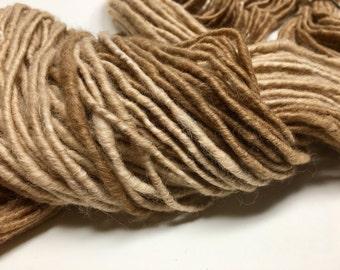 Ombre - Handspun Yarn - 117 yds - Bulky Weight - Corespun - Baby Alpaca - USA grown - Ombre