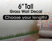 Grass Wall Decor / Grass Wall Decal border / Grass Border/ Playroom Decor / Kids Room Decor Removable vinyl wall border - nursery wall decor