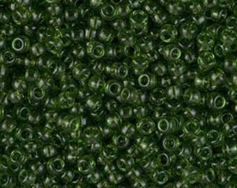 Miyuki Size 11/0 - Transparent Olive Green - M158