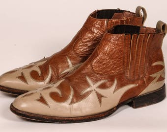 Western Cowboy Chelsea Boots Men's Size 10