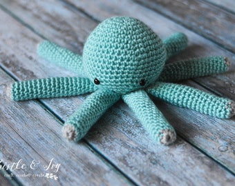 Small Octopus Plushy Crochet Pattern PDF DOWNLOAD
