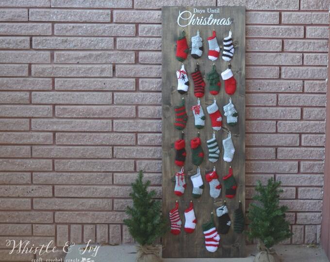 Holiday Advent Mini Stocking Ebook Instructions