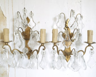 French vintage wall sconces wall lights Crystal bronze wall sconces lighting