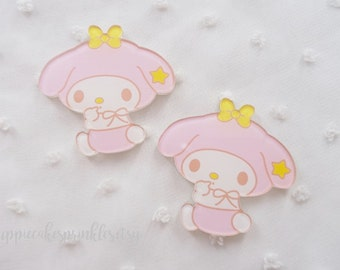 1pc - Kawaii Baby My Melody Star Cute Mix Decoden Cabochon (40mm) MYM009