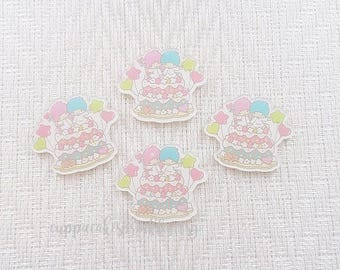 1pc - Kitschy Little Twin Stars Balloon Cake Acrylic Decoden Cabochon (39x45mm) LTS006