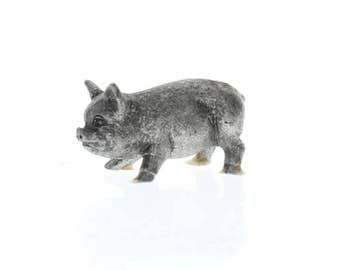 Handcrafted Solid Pewter Spoontiques Little Piglet Piggy Pig