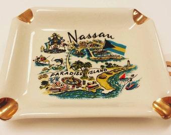 Nassau, Paradise Island, Bahamas Travel/Kitsch Ashtray or Candy Dish