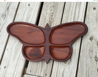 ON SALE Butterfly Tray Serving Tray Wood Tray