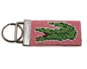 Needlepoint Kit - Alligator Key Fob - with monogram option
