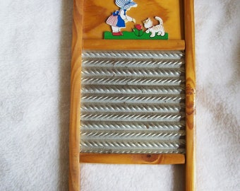 toy washboard, hand made washboard, wall hanging washboard