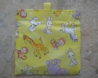 Precious Moments Reusable Sandwich Bag, Reusable Snack Bag, Washable Treat Bag with easy open tabs