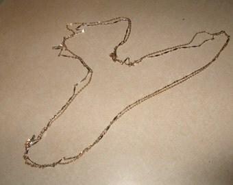vintage necklace long goldtone chain double strand