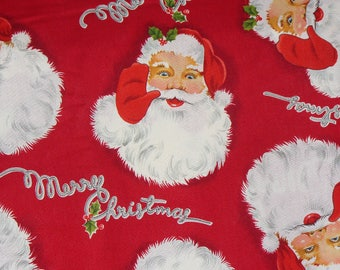Alexander Henry Santa Christmas Collection 2006, Vintage Style, Retro Santa, Santa Fabric, Christmas Fabric, By the Yard, Cotton fabric