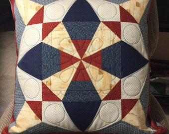 Custom Quilted Pillow Cover