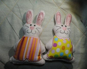 6.5 Inch Machine Embroidery Baby Easter Bunny just the right size to put in a Easter basket