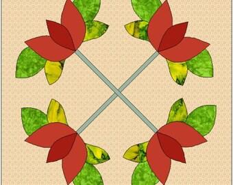 Peace Applique Quilt Block Pattern