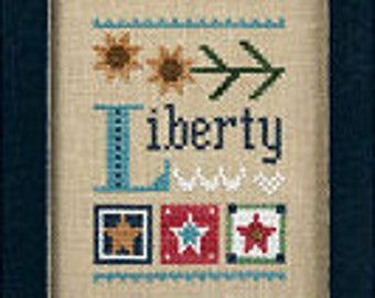 NEW Liberty Celebrate INCLUDES charm cross stitch patterns by Lizzie*Kate at thecottageneedle.com Memorial Day 4th of July