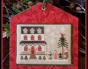 Grandma's House Hometown Holidays cross stitch patterns by Little House Needleworks at thecottageneedle.com Christmas December Winter
