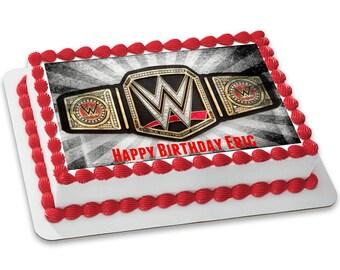 WWE Championship Belt Customizable Edible Image (8.5x11)