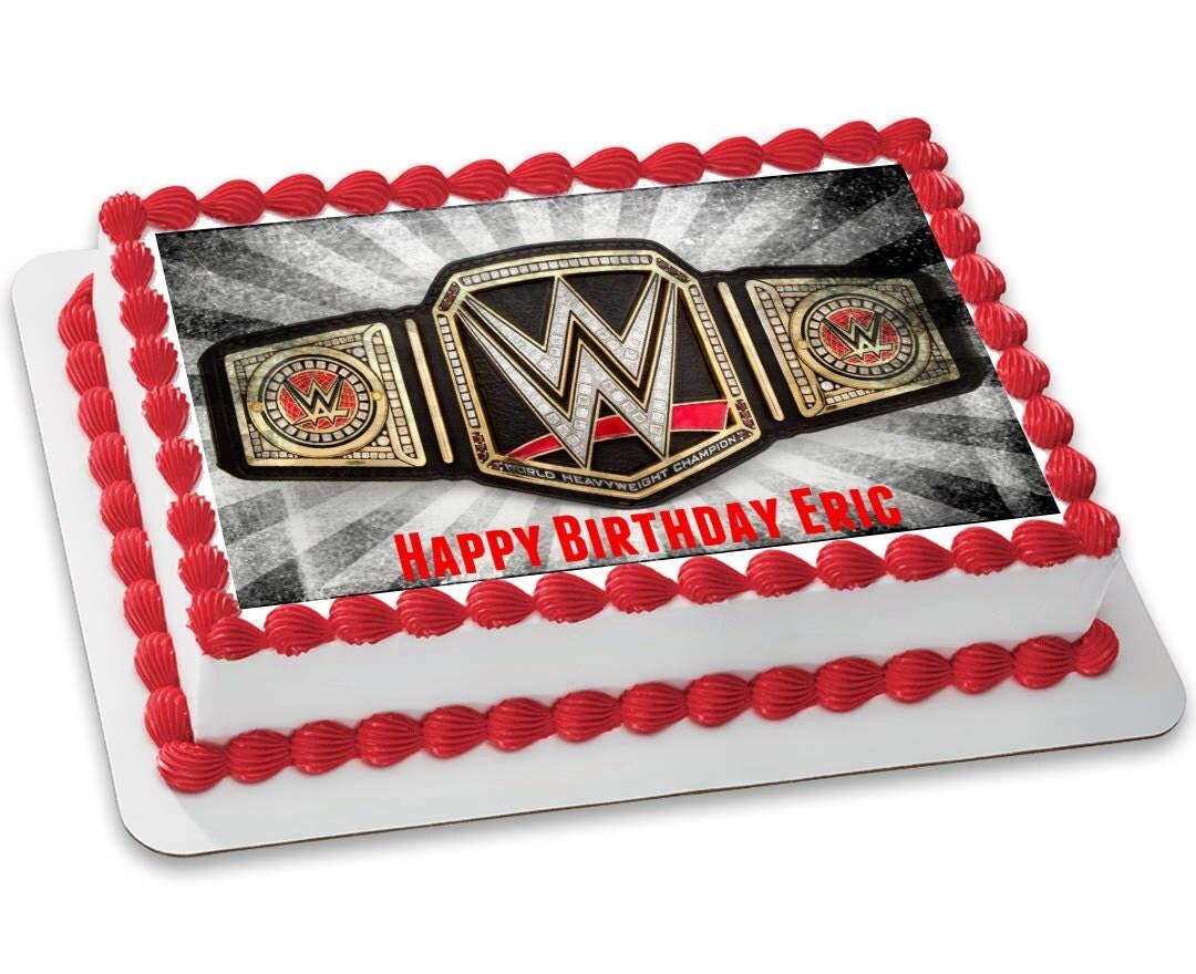 Wwe Championship Belt Customizable Edible Image 8 5x11