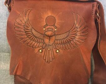 Kephra Rising Egyptian Leather Satchel