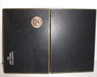 Vintage Antique English 1900s Cigarette Tobacco Tin Advertising Graphics Players Navy Cut Tobacciana Tin