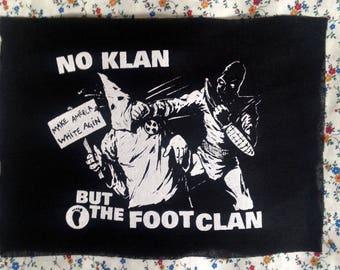 No Klan but the Foot Clan PATCH anti KKK antifa turtles for social change