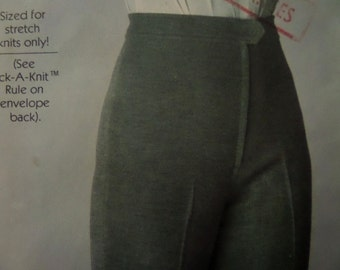 WIDE LEG PANTS Pattern • Simplicity 8184 • Miss 8-12 • Knit Pants • High Waist Pants • Sewing Patterns • Vintage Patterns • WhiletheCatNaps
