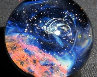 Star Collector and Nebula Glass Marble