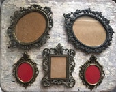 Vintage Collection of Petite Beautiful Italian Ornate Metal Frames
