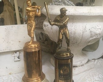 Vintage Set of 1950's Baseball Player Award Trophies