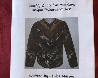 Quilted Coat Janice Maroni Quilt as you Sew