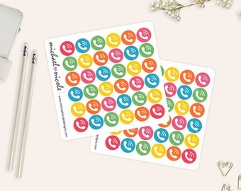 Phone Sticker, Meeting Stickers, On-Call Stickers | Gumball Theme | Erin Condren Planner, Filofax, Plum Paper | Item MP-037