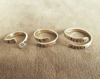 14k gold filled stamped rings