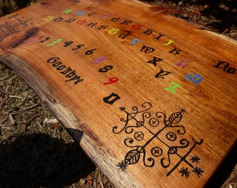 Ouija Board Voo Doo Black Magic New Orleans Louisiana Curse Papa Legba Symbol Pagan Witchcraft Creepy Faces In Wood Planchette Paranormal