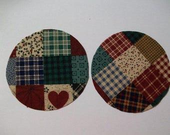 Patchwork Cotton Fabric Circles 30 pcs