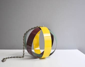 Mid-Century Metal Decorative Orb - Hanging Orb and Plant Holder